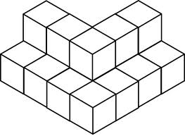 Find the volume of the above shape considering that each side is of ...