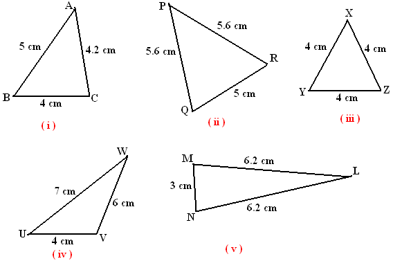 Basic Geometry types of triangles on the basis of sides – Classifying Triangles Worksheet